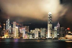 Skyline di Hong Kong