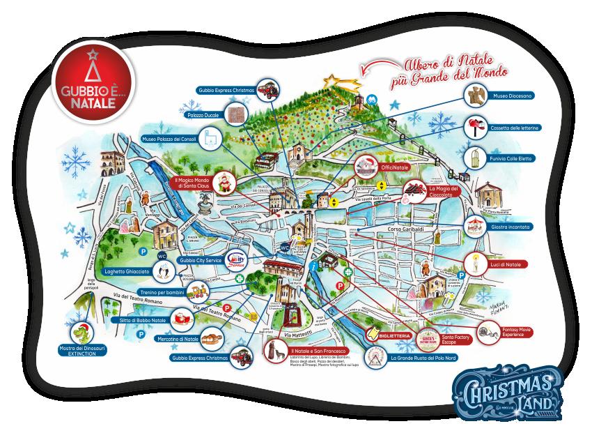 mappa ChristmasLand Gubbio
